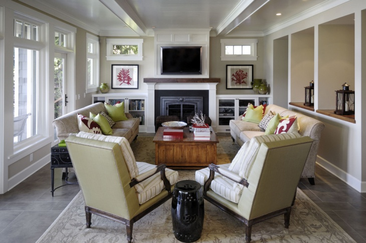 traditional small living room design