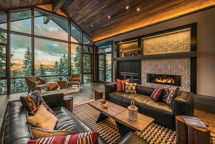 rustic contemporary living room design