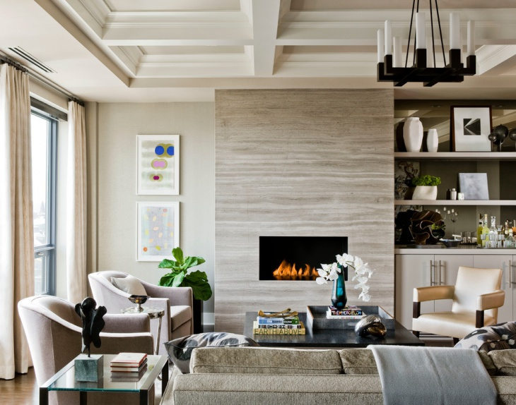 transitional formal living room design