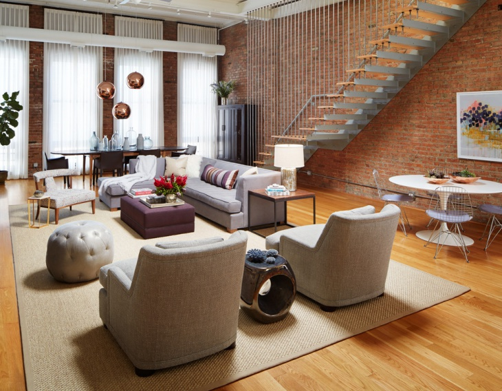 urban loft living room design