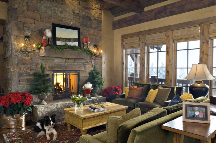 rustic vintage living room idea