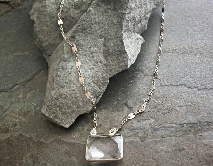 silver chain necklace design