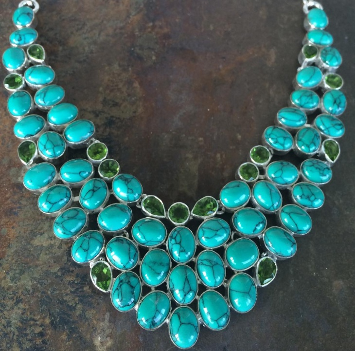turquoise statement necklace design
