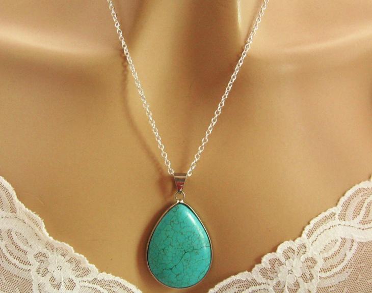 turquoise pendant necklace design