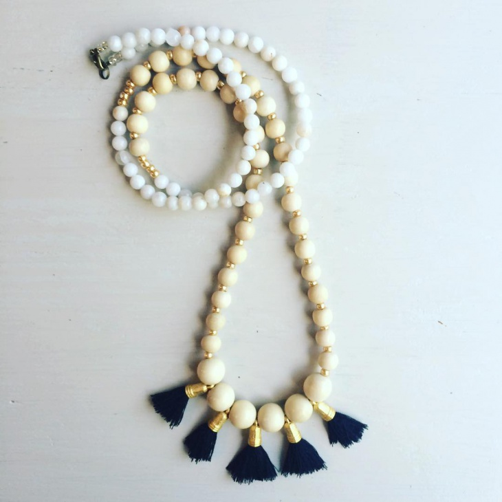 long beaded necklace design