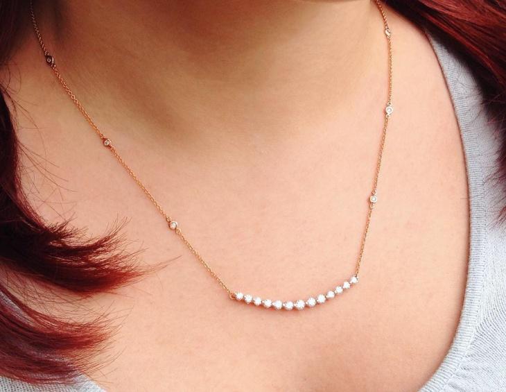 rose gold necklace design