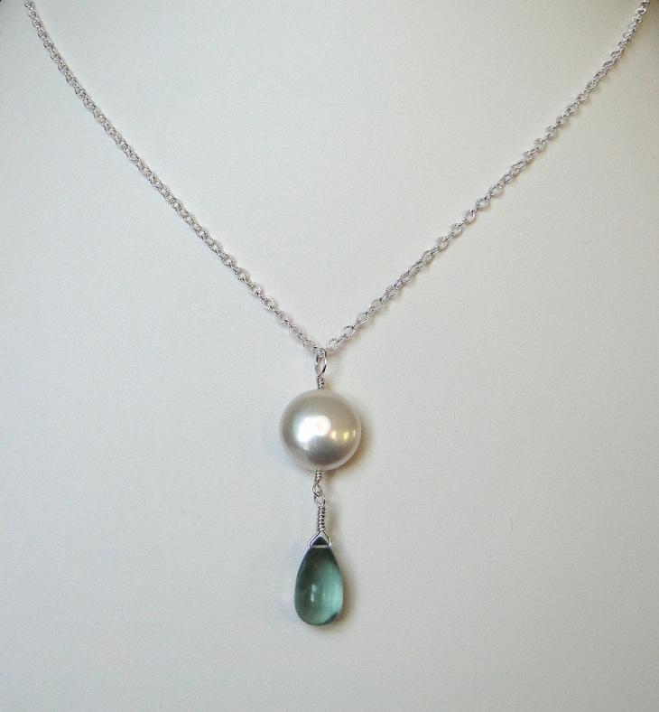 white gold necklace design