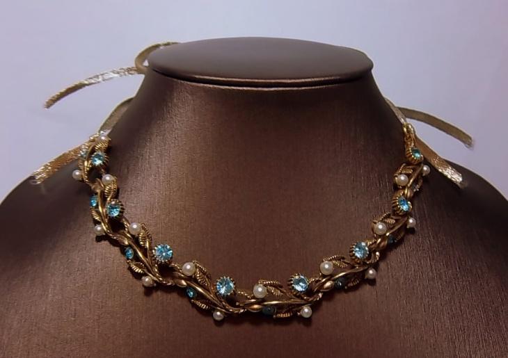 antique rhinestone necklace design