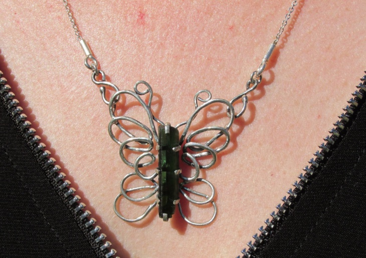 crystal butterfly necklace design