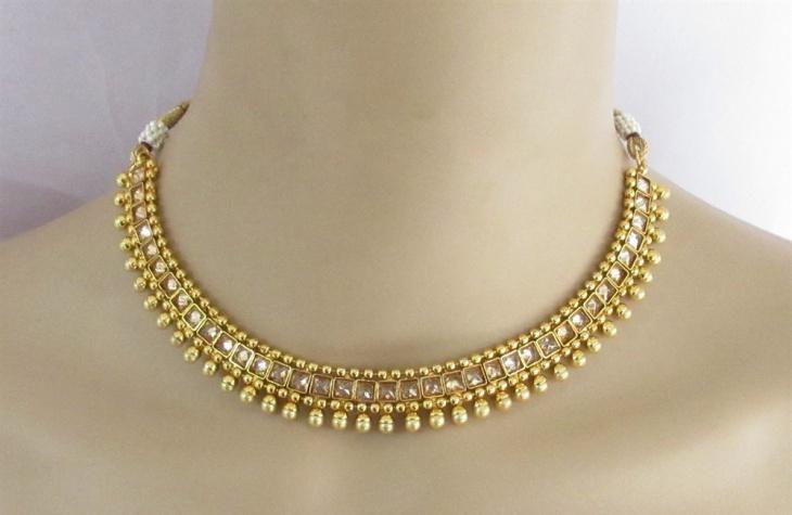 pearl polki necklace design