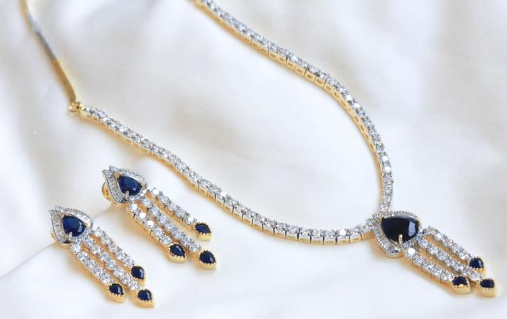 long polki necklace design