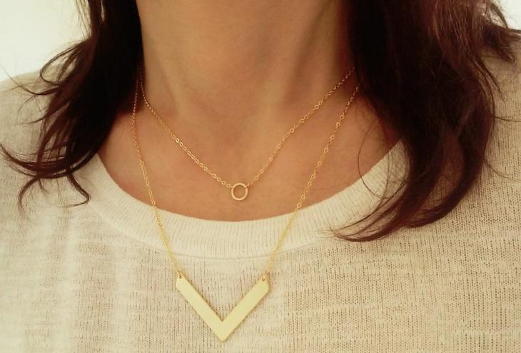 small circle necklace design