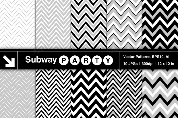 Black and White Chevron Pattern Design