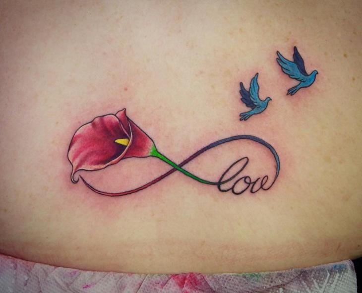 calla lily flower tattoo design
