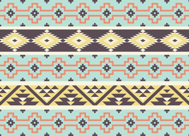 Aztec Tribal Pattern Design
