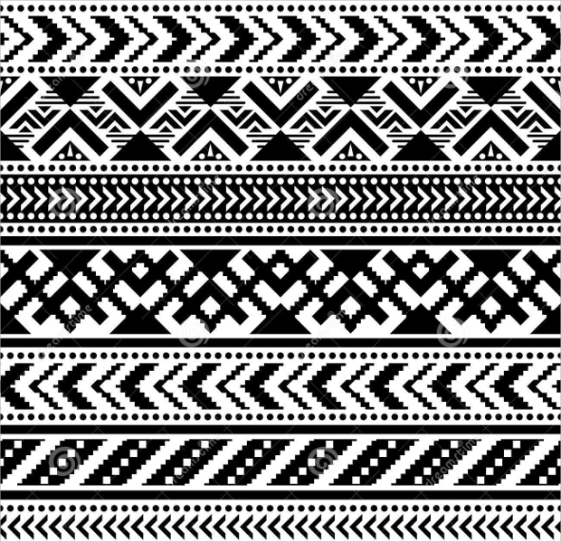 Black and White Tribal Pattern Design