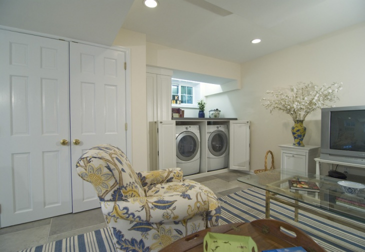 small basement laundry room1