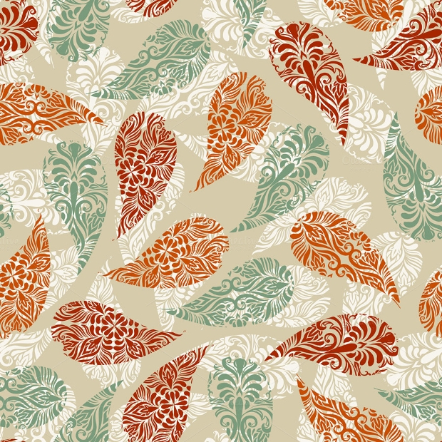 Vector Paisley Pattern Design