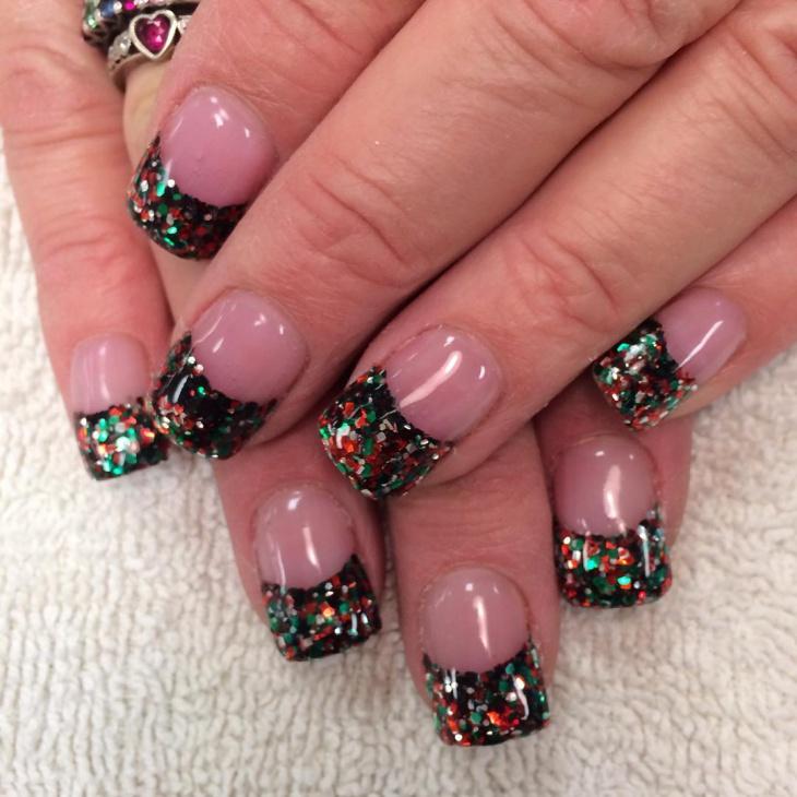49 black nail art designs ideas design trends premium psd black glitter tip nail art prinsesfo Image collections