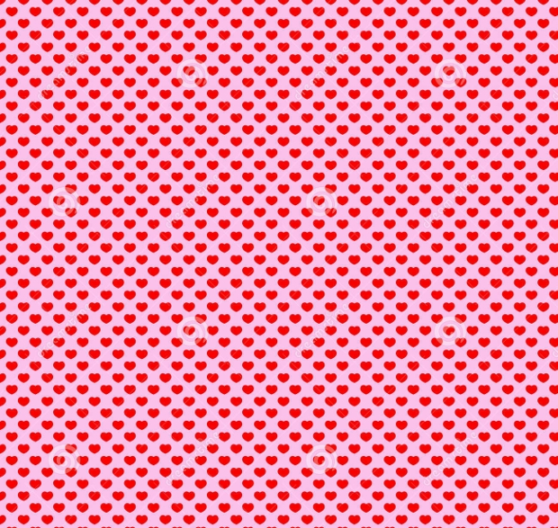 Seamless Hearts Polka Dot Pattern