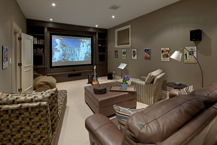 small media room furniture design