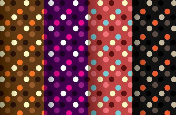 Vector Polka Dot Pattern