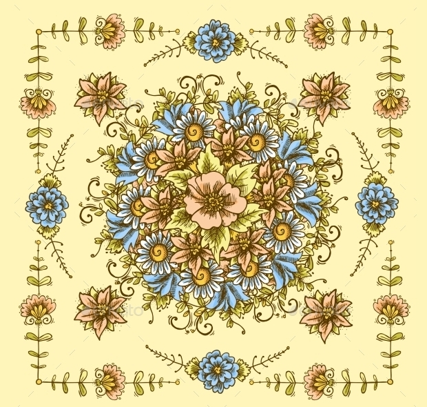 vntage floral pattern