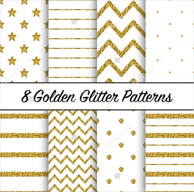 Photoshop Gold Glitter Pattern Design