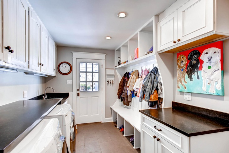 small laundry mudroom idea