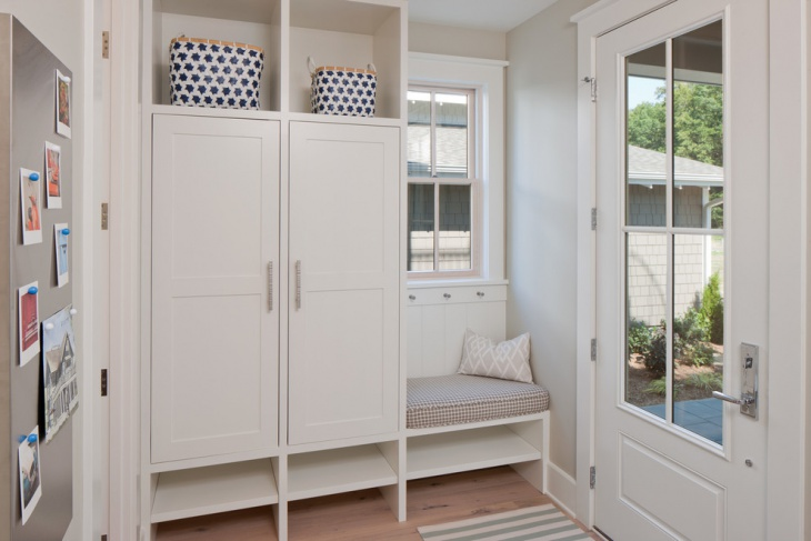 small mudroom entryway idea
