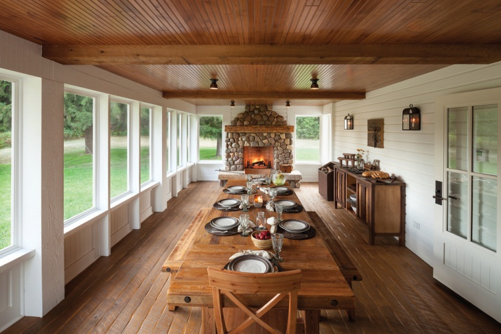 chalet interior dining idea