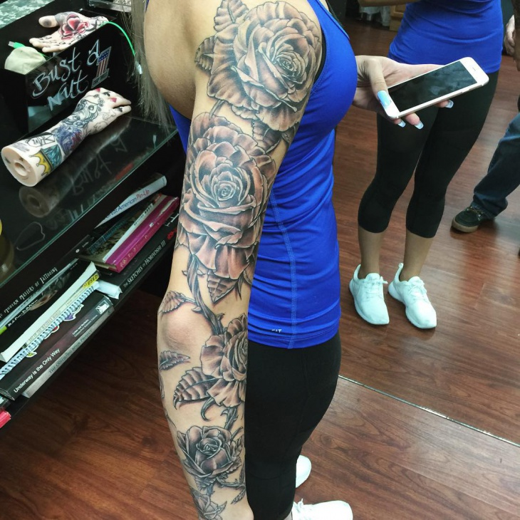 womens full sleeve tattoo design