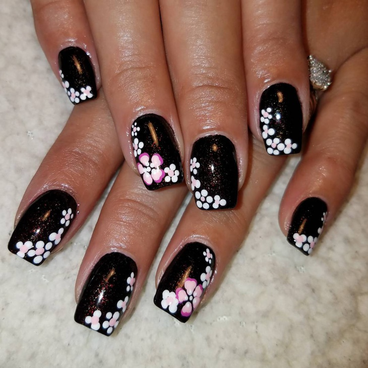 Art Designs: 49+ Black Nail Art Designs, Ideas