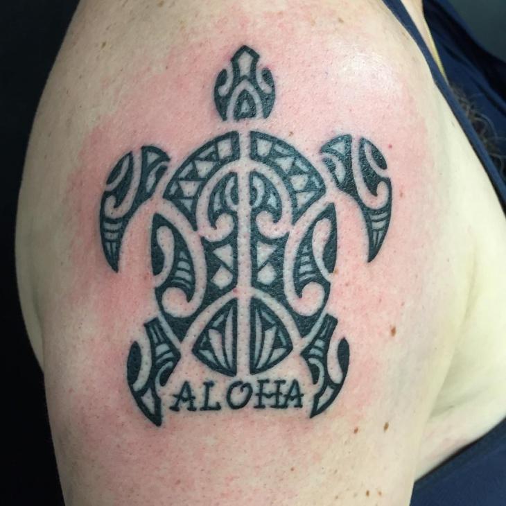 turtle polynesian tattoo design for women