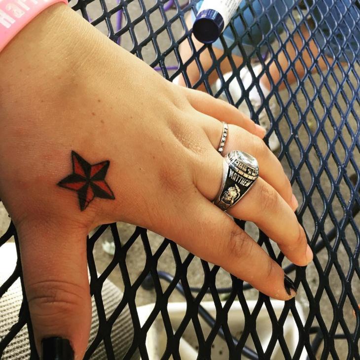 nautical star tattoo design for women