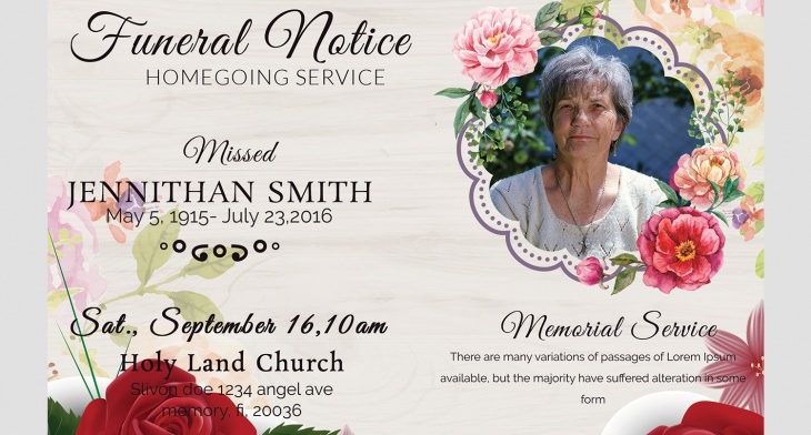 5 funeral notice templates free word pdf psd documents download img sending out funeral notice maxwellsz
