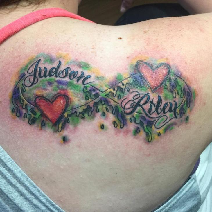 love infinity tattoo design