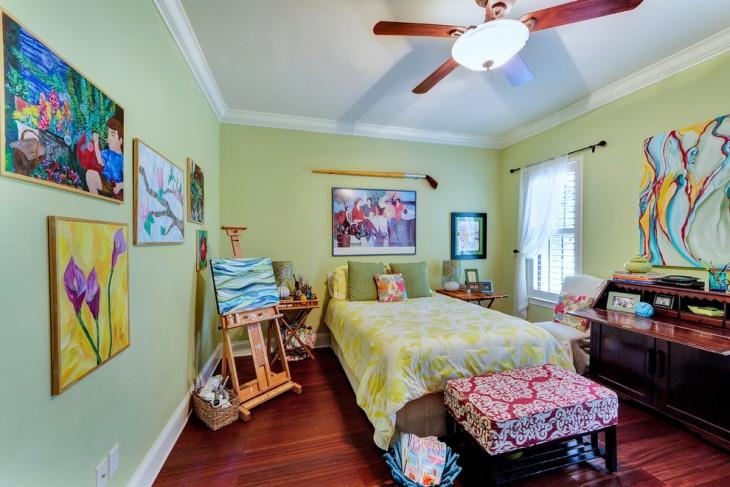 artistic minimalist kids bedroom