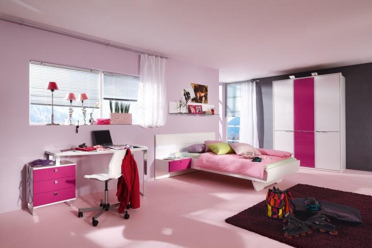 pink minimalist kids bedroom