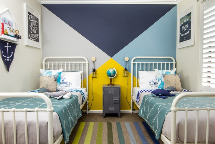 minimalist kids double bedroom