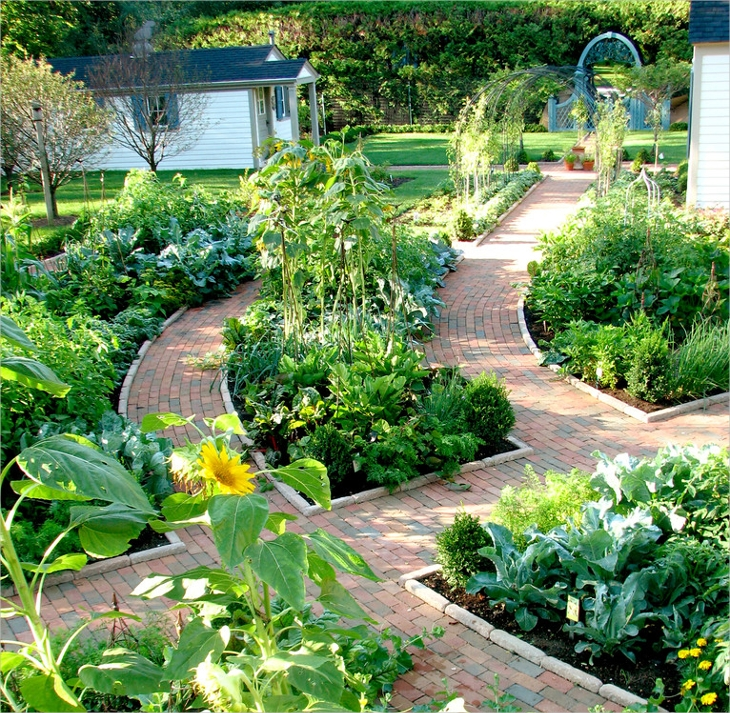 18 edible garden designs ideas design trends premium for Edible garden designs