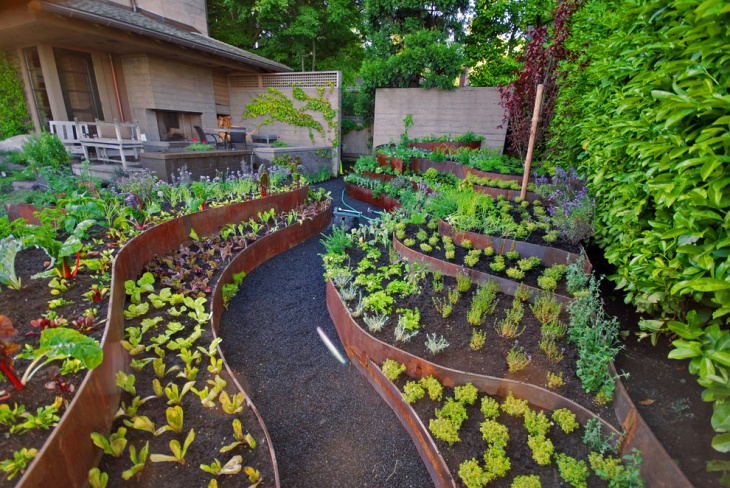 Nice Decorative Edible Garden Design