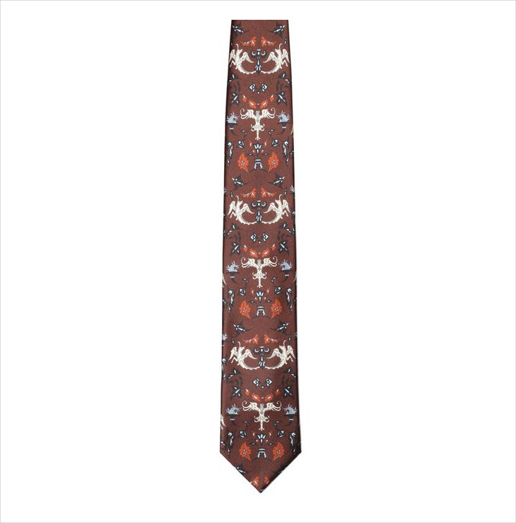 printed silk tie for men