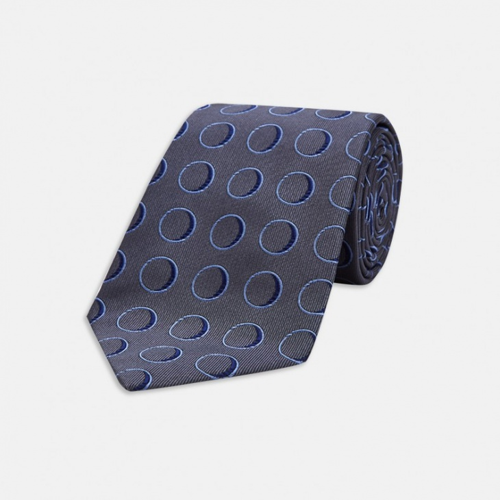 gray color silk tie for men