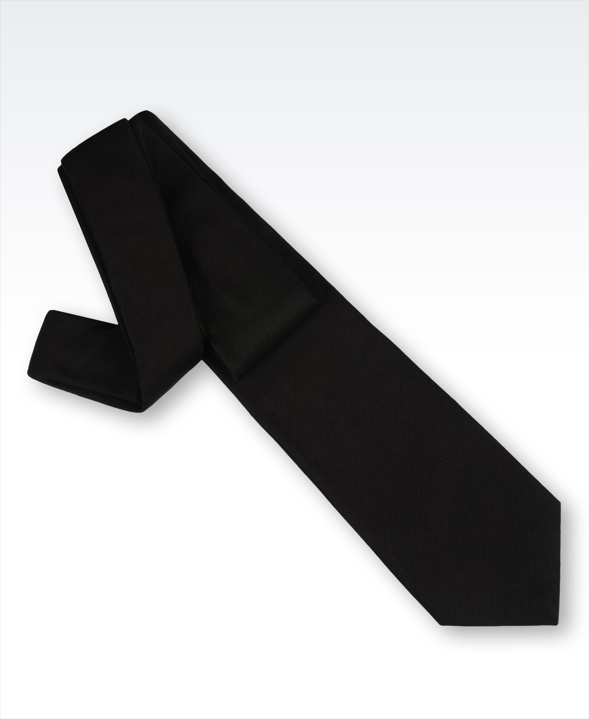 designer black silk tie for men