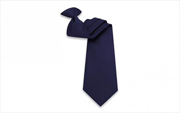 mens navy blue clip on tie design