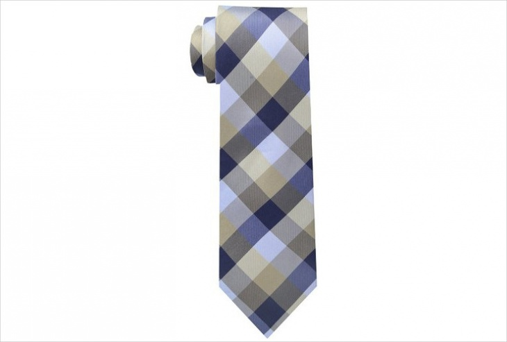 tartan plaid tie design for men