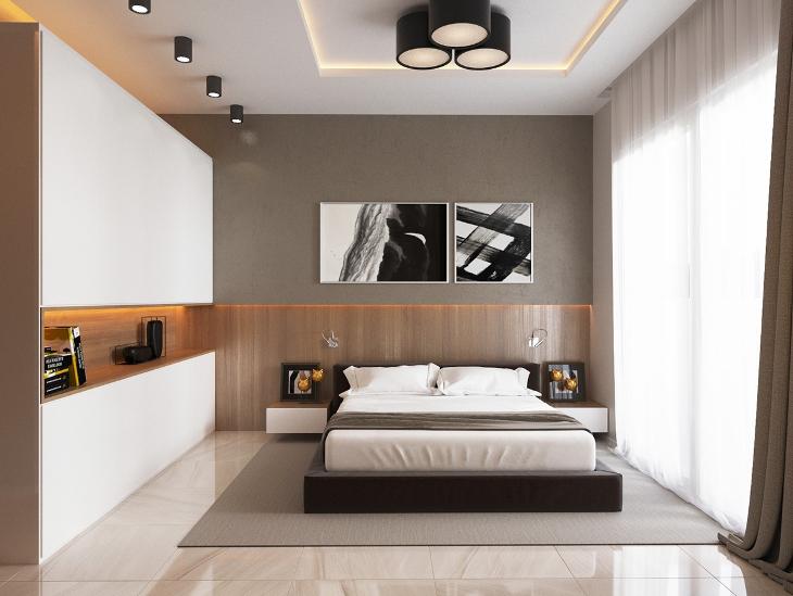 Ceiling Light Minimalist Bedroom