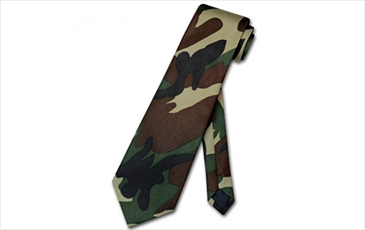 camo military tie design for men