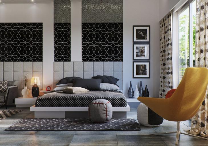 Black & White Minimalist Bedroom Design